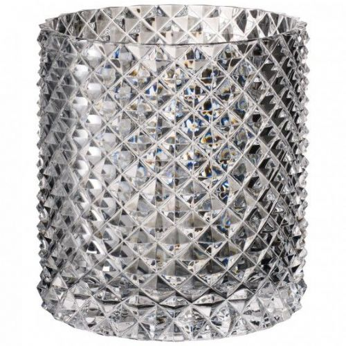 Crystal Diamond Glass Vase Hurricane Lamp - 18cm